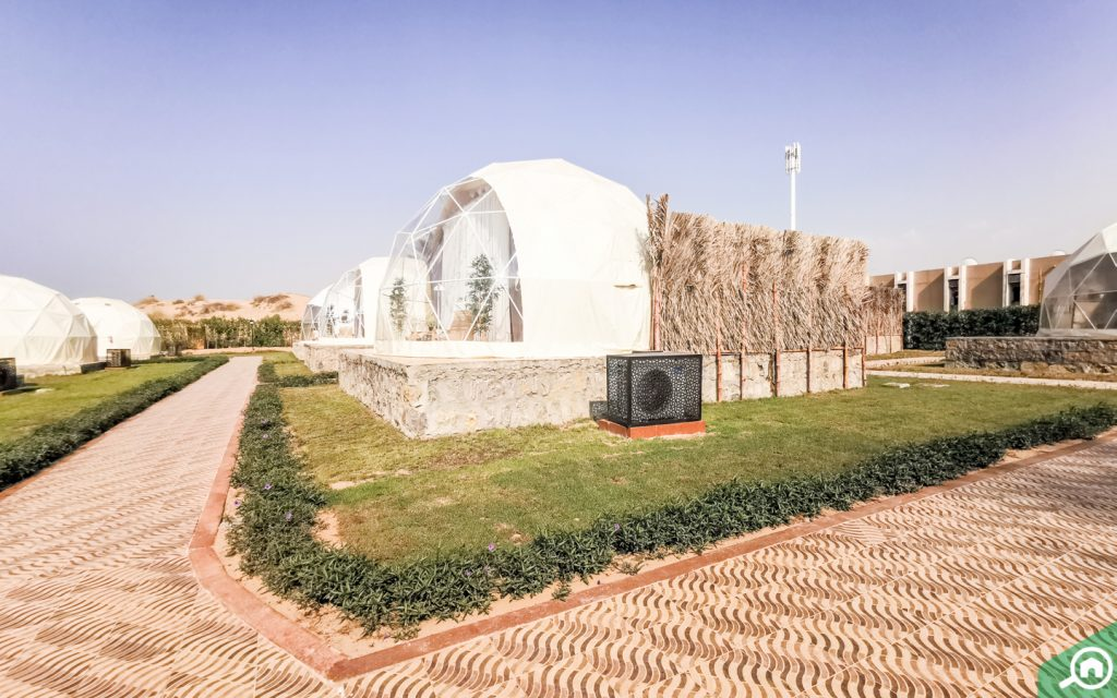Panoramic dome tent at longbeach island