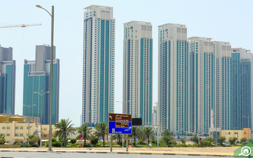 View of buildings in a top area to buy flats in Al Reem Island