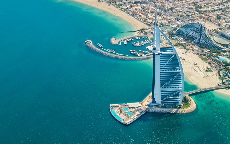 Dubai tours and attraction: Burj Dubai and palm island  |Palm Island Dubai From Burj Hotel