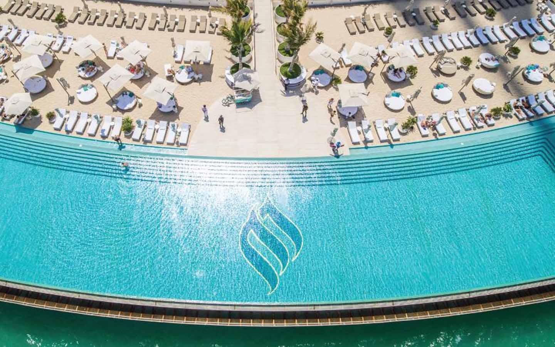 Burj Al Arab Terrace aerial view