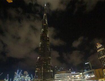 Night view of Burj Khalifa