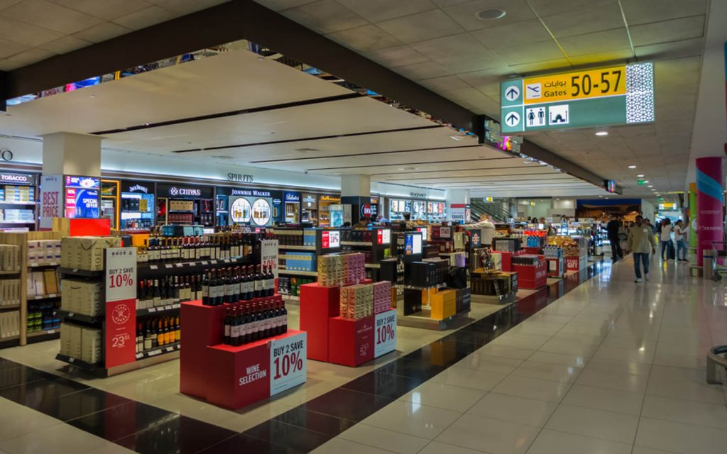 alcohol selection at Abu Dhabi Airport Duty Free