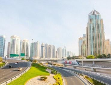 View of Dubai Marina and JLT buildings