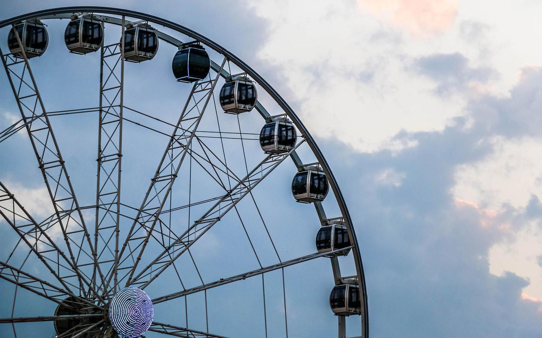 Big wheel in Dubai Festival City