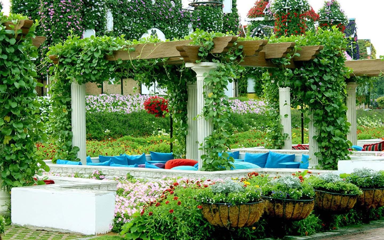 Cabanas at the Dubai Miracle Garden