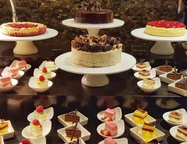 Cakes on display at one of the cake shops in Ajman
