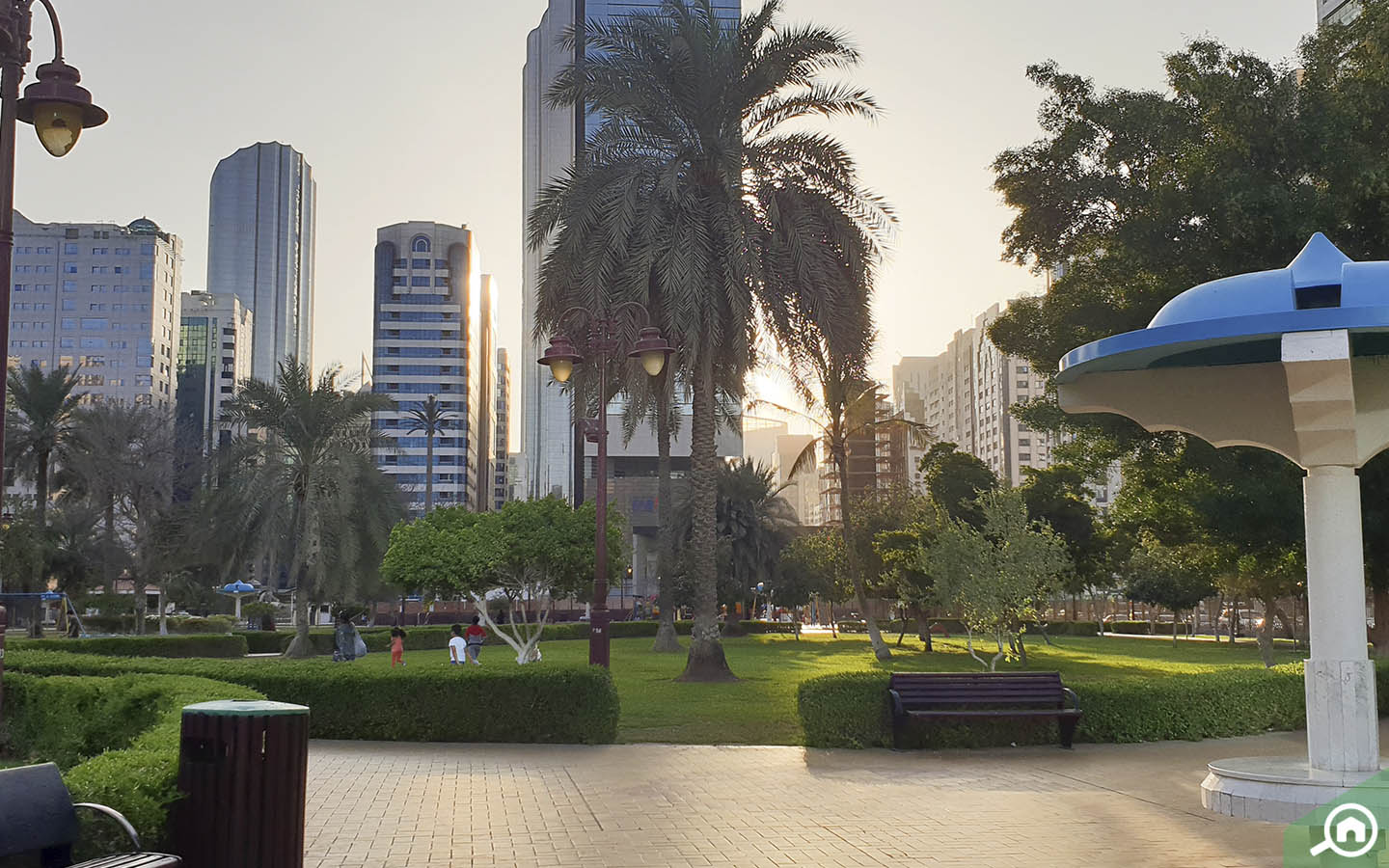 One of the parks in Abu Dhabi