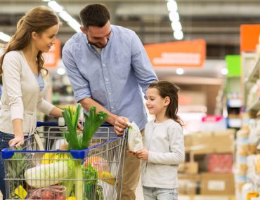 Family shopping at Carrefour Supermarket in RAK