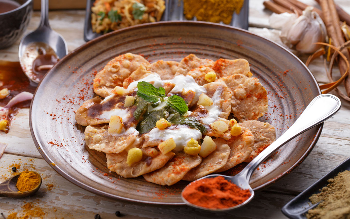 Chaat in a bowl