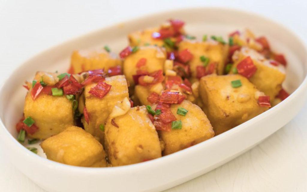 Spicy hot tofu