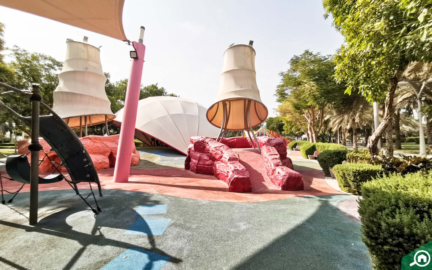 Children's play area at Zabeel Park Dubai