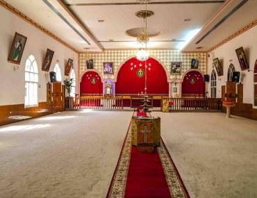 Inside a church in Sharjah
