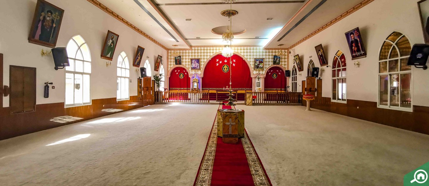 Inside a church in Sharjah