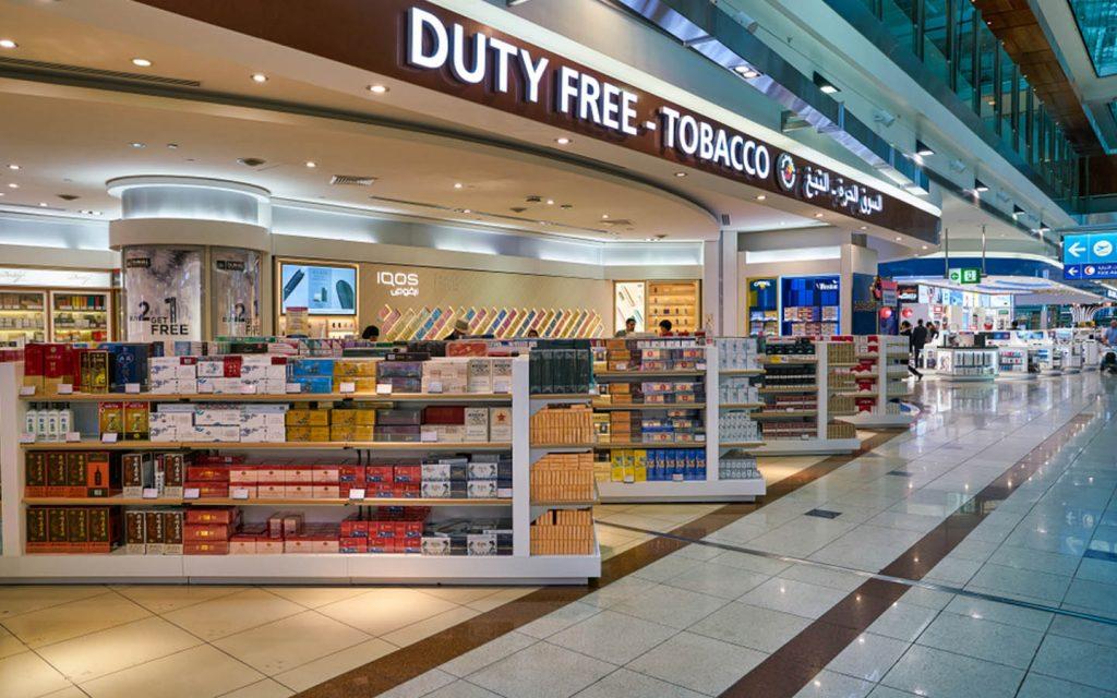 Dubai Duty Free cigarette shop