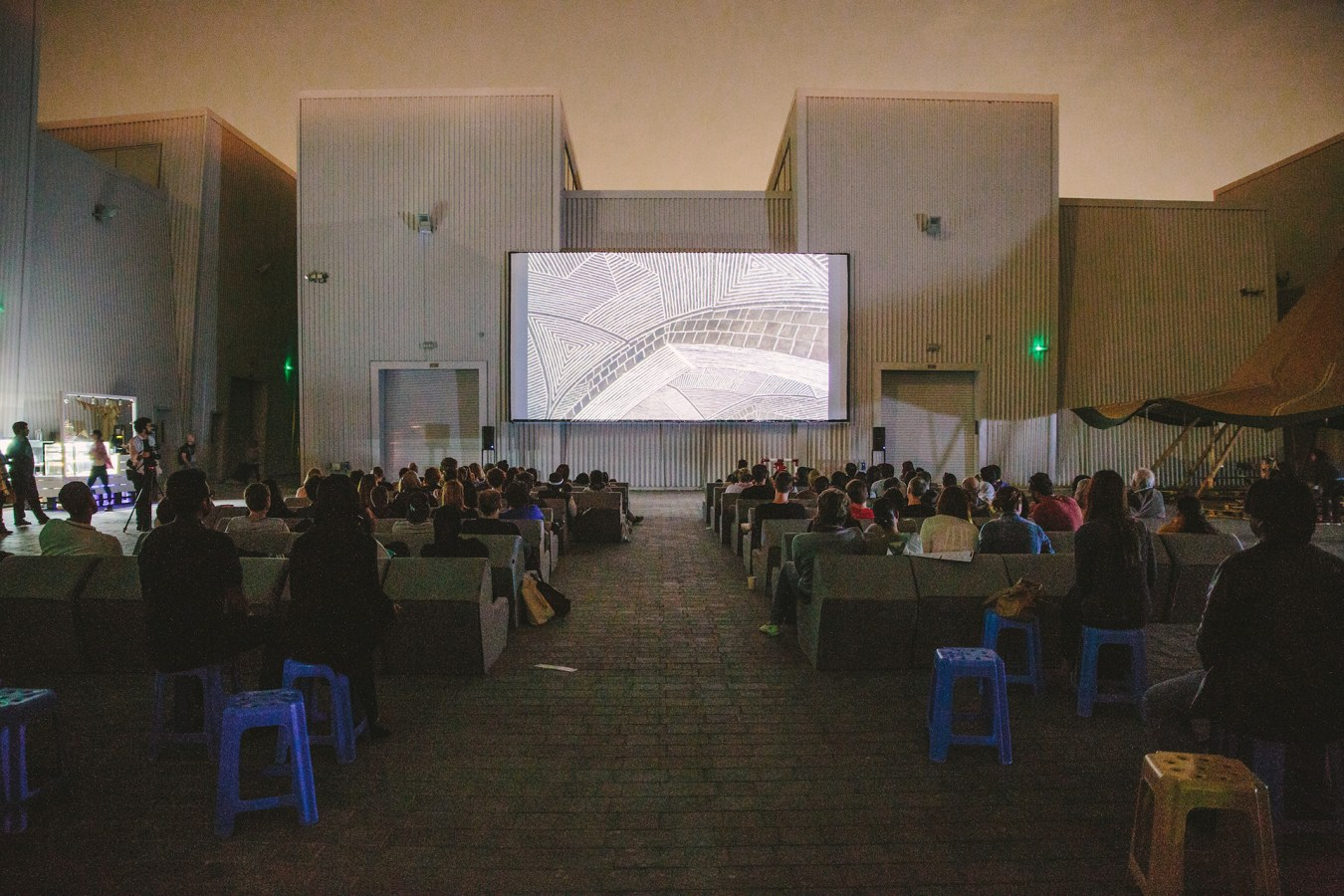 Cinema Akil outdoor screen