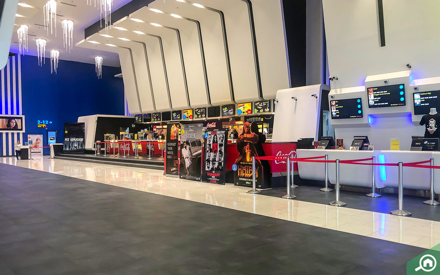 Inside view of one of the cinemas with credit card movie offers in Dubai