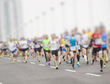 Runners in a marathon in Dubai