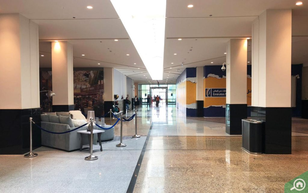 Emirates NBD bank at the mall