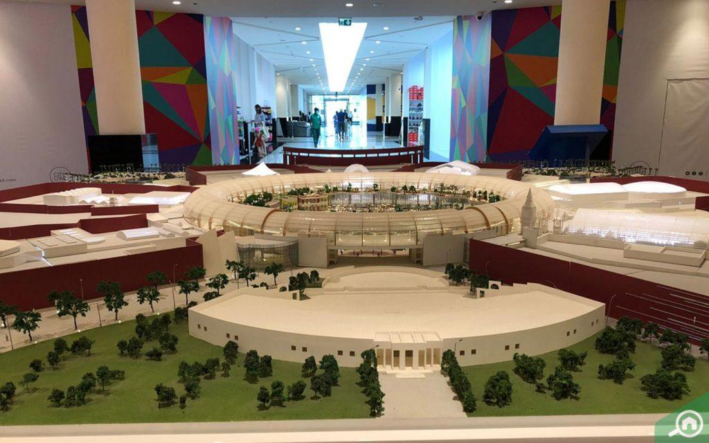 Miniature model of Cityland mall