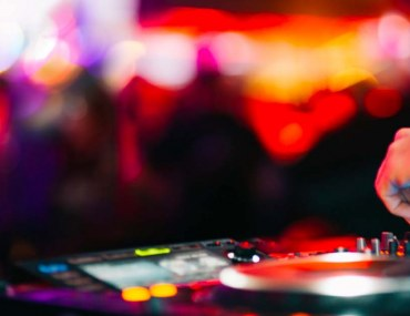 DJ performing in a club
