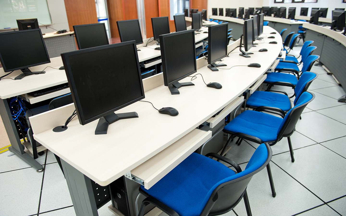 Well-equipped computer lab