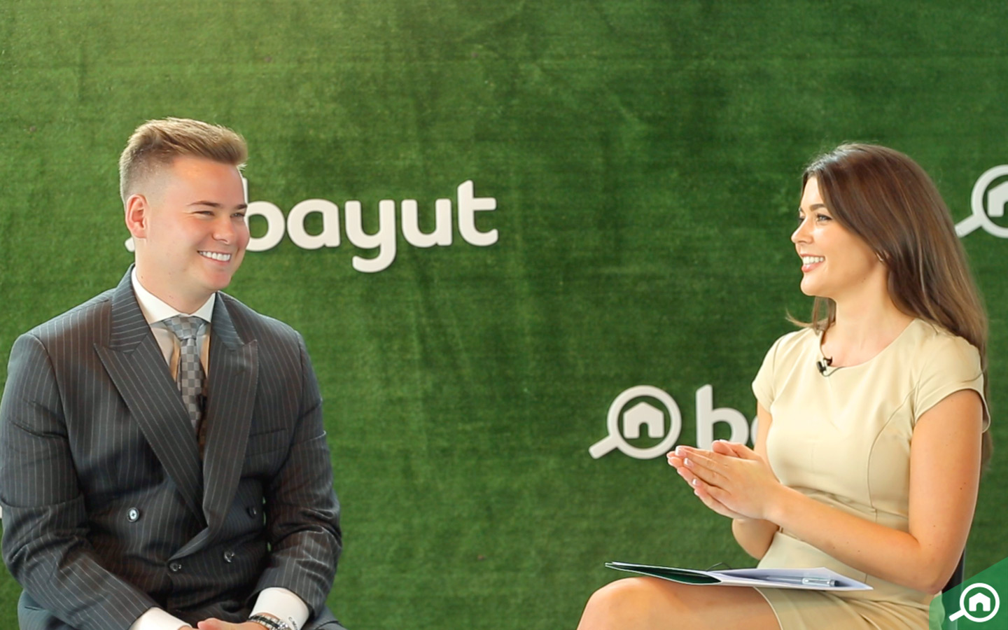 Conor Mckay with host Linzi McLelland on Bayut's Big Closers