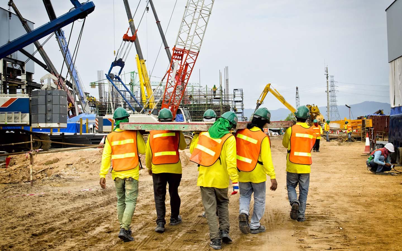 Construction company at work in Dubai