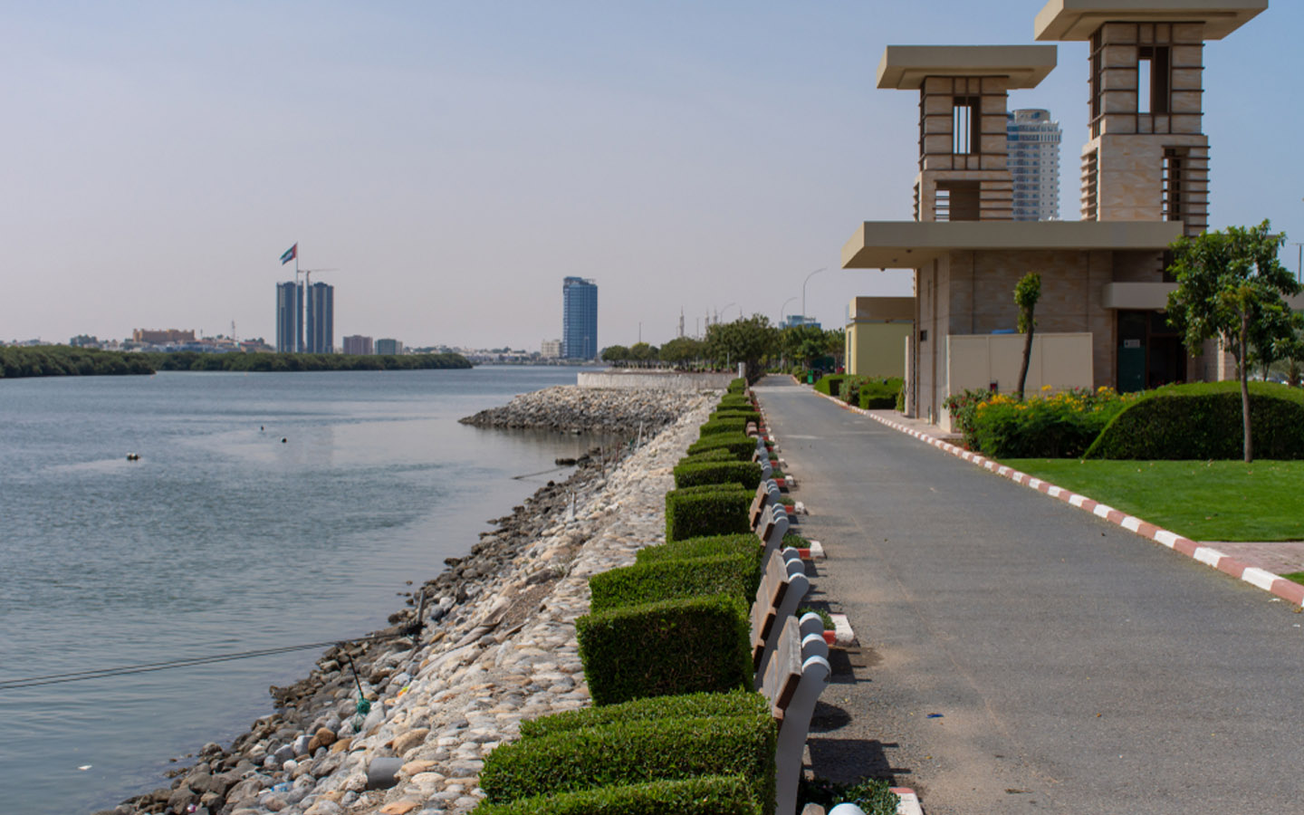RAK Corniche is ideal for a walk or exercise