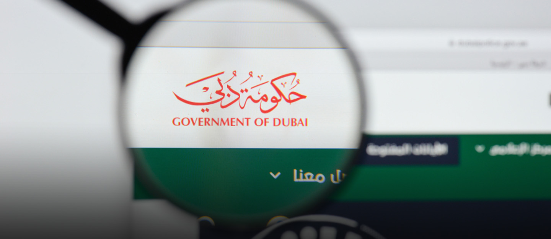 Screenshot of Dubai government's official website