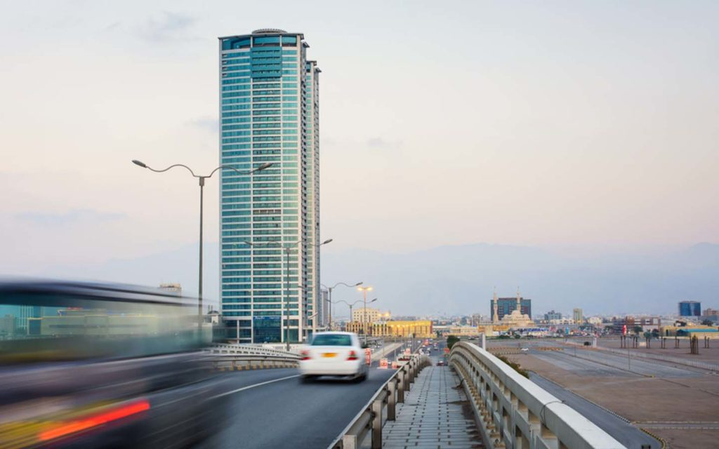 Cars on the road in Ras Al Khaimah