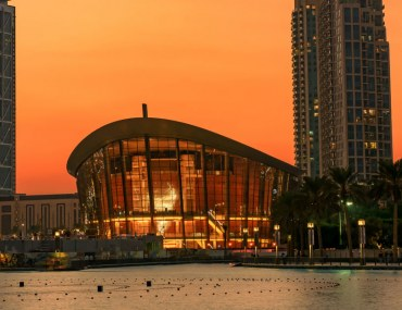 The Dubai Opera in Downtown Dubai.