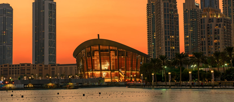 The Dubai Opera in Downtown Dubai.