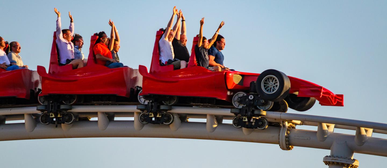 the world's fastest roller coaster in Ferrari World, Abu Dhabi