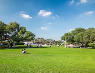 Dubai Creek Park vast lawn