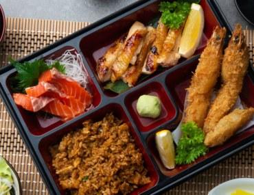 Japanese food platter