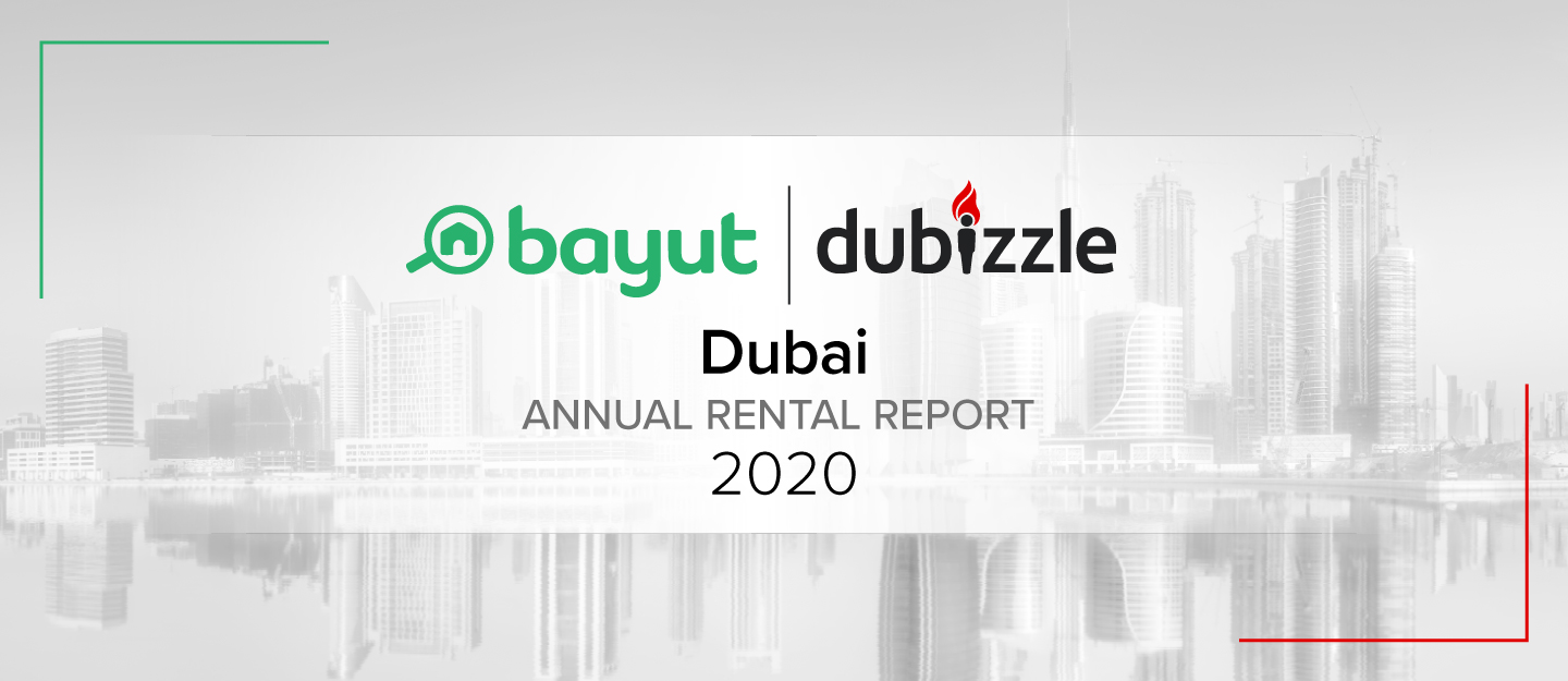 Cover for Bayut and dubizzle analysis of rental prices in Dubai for 2020