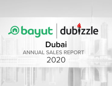 Cover for Annual sale report on Dubai Property Prices 2020 by Bayut and Dubizzle