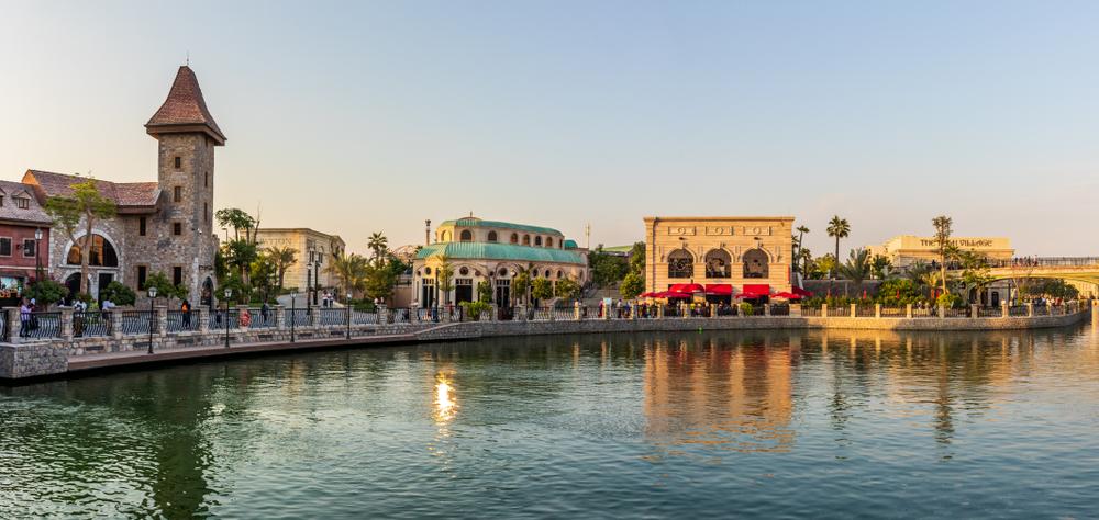 Riverland Dubai landscape view