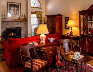 antique furniture in a room with similar colour palettes is one of the ways to style antique furniture
