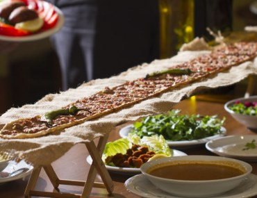 Traditional Turkish food being served at suhoor in Abu Dhabi
