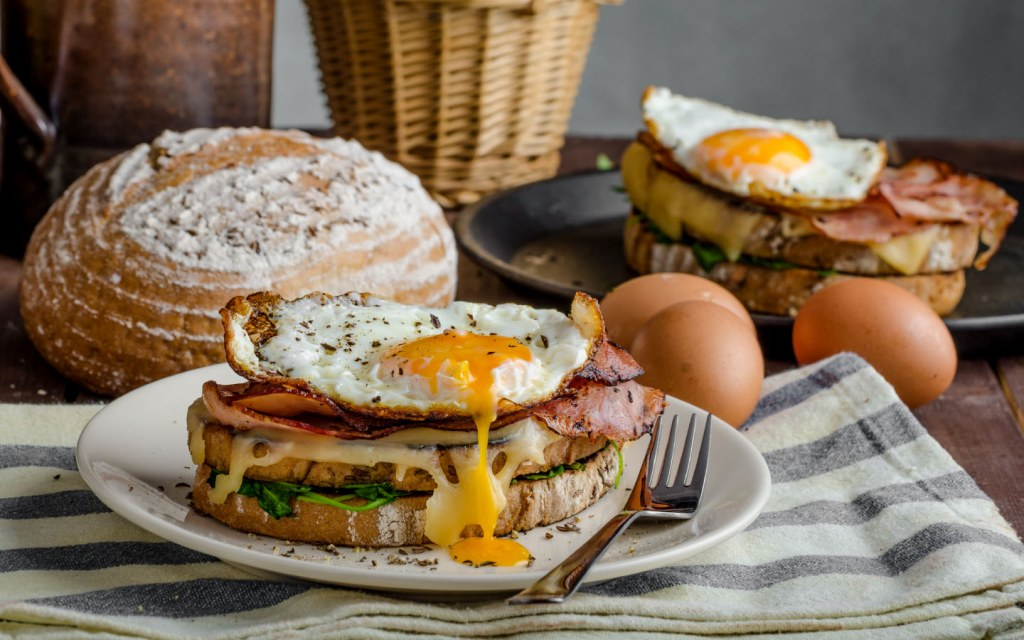 Croque Madame and French breads