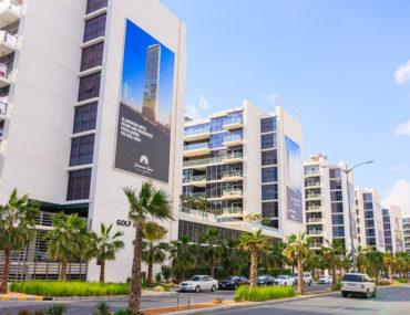Apartment buildings in DAMAC Hills, one of the DAMAC residential projects in Dubai