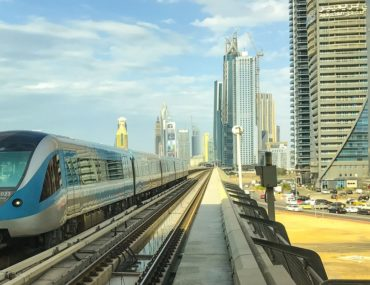 View of a Dubai Rail
