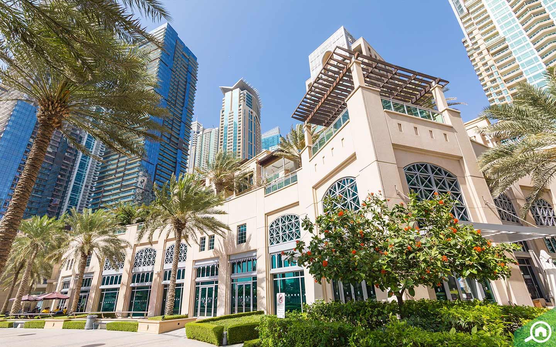 Landscaping and Towers on Dubai Marina Walk Emaar