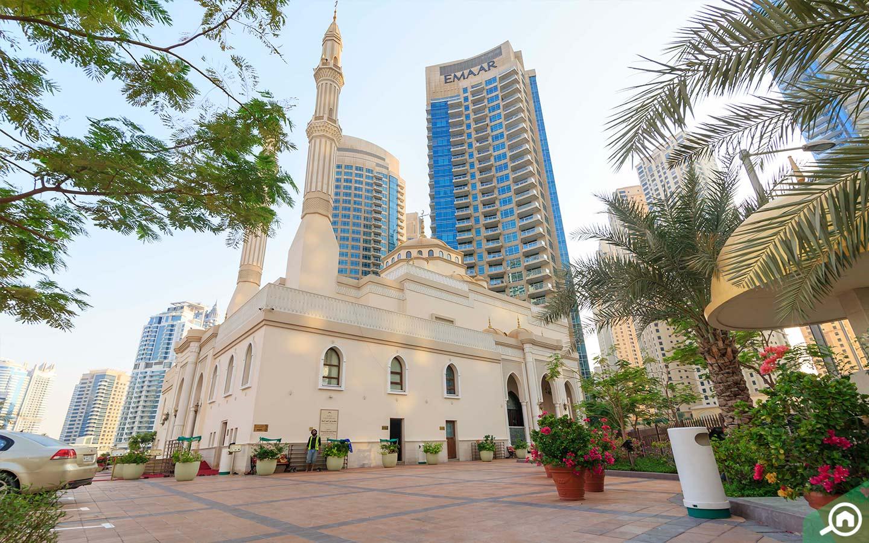 Mohammed Bin Ahmed Al Mulla Mosque on Dubai Marina Walk