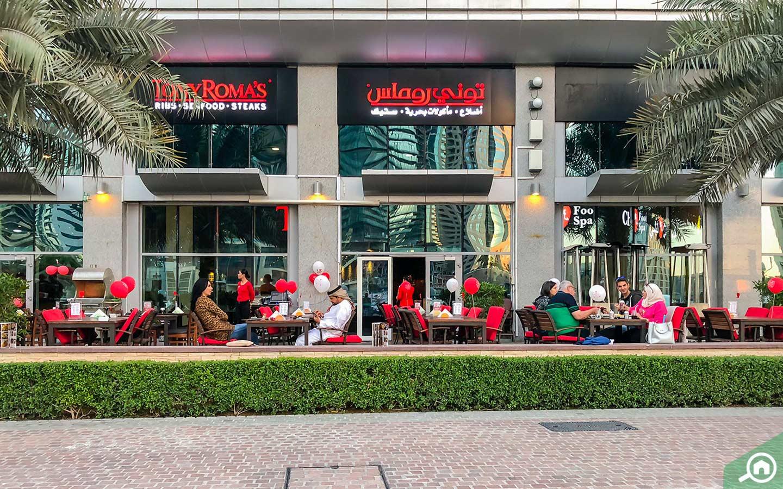 View of Nando's Restaurant in Dubai Marina