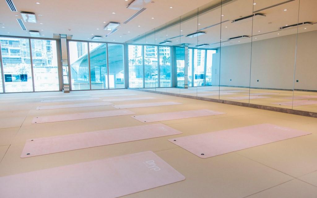DRYP Yoga studio in Dubai Marina