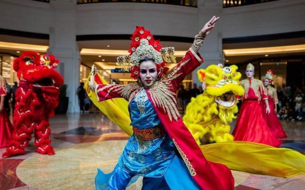Performer during Dubai Summer Surprises