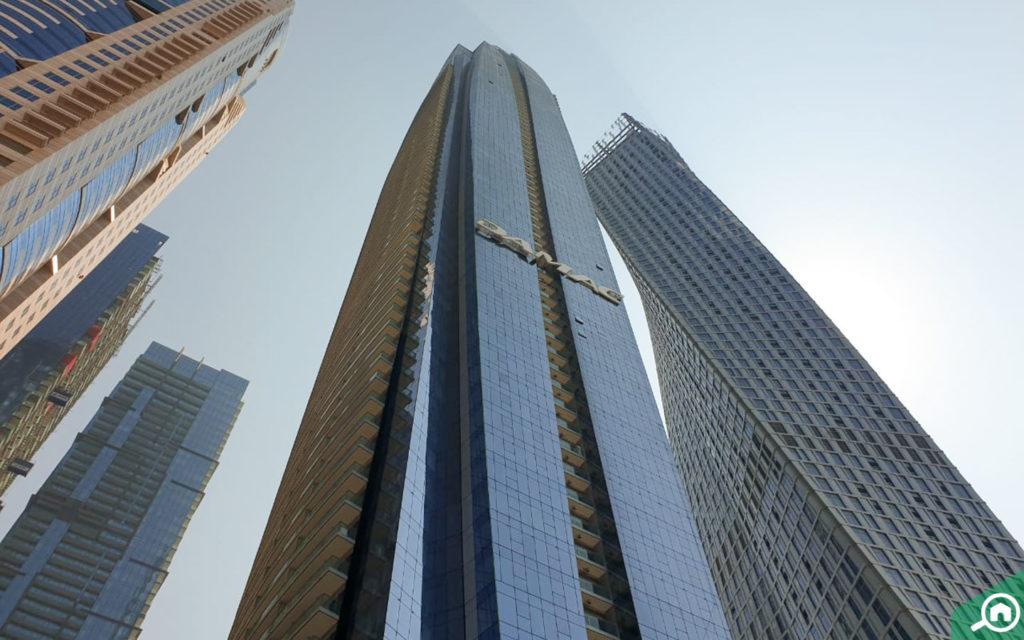 Exterior view of DAMAC Heights in Dubai Marina