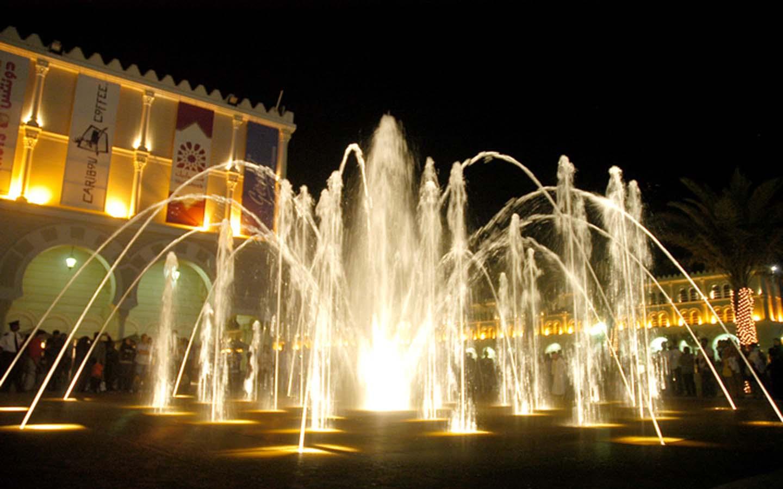 Dancing Fountain show in Al Qasba.